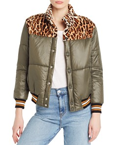 MOTHER - Faux-Fur Detail Puffer Jacket