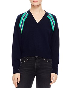 Sandro - Alexandrie Stripe-Trim Sweater