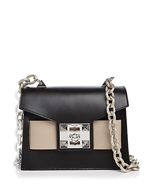 Salar Mila Color-Block Leather Shoulder Bag