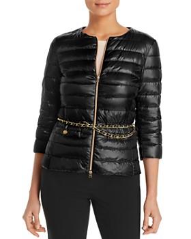 Herno - Lucrezia Belted Channel Short Down Jacket