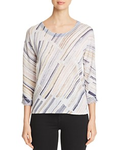 NIC and ZOE - Water Stroke Patterned Top