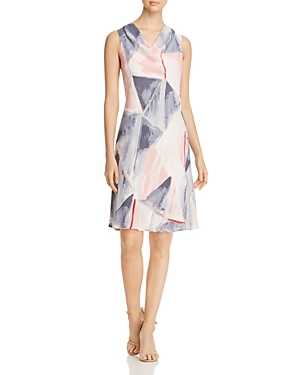 Nic+Zoe Sail Away Sleeveless Printed Dress