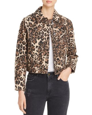 Leopard Print Denim Jacket by Bagatelle