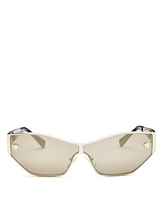Versace - Women's Mirrored Shield Sunglasses, 67mm