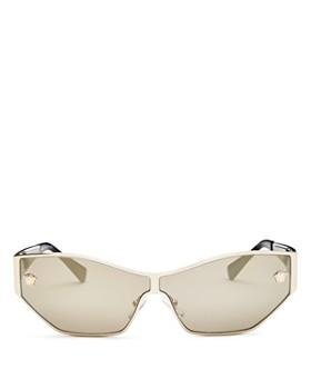 Versace - Women's Mirrored Shield Sunglasses, 67mm