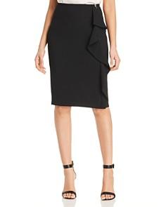 T Tahari - Ruffle Pencil Skirt
