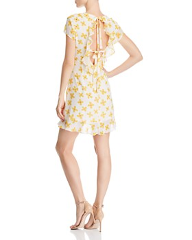 4f1651744ea ... Bardot - Floral-Print Open-Back Dress - 100% Exclusive