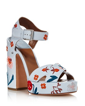Laurence Dacade - Women's Rosange Floral Leather Platform Sandals