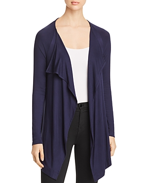 Three Dots Draped Open Cardigan