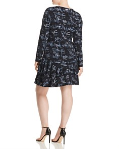 MICHAEL Michael Kors Plus - Cobra Snake Print Tiered Dress