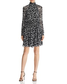 Rebecca Minkoff - Zayee Printed High-Neck Dress