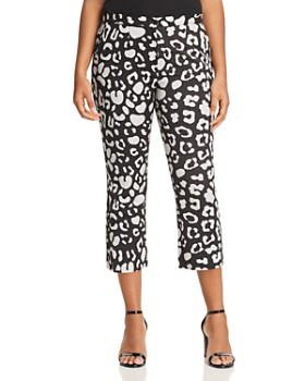 Marina Rinaldi - Rilievo Animal-Print Cropped Pants