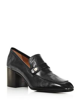 Laurence Dacade - Women's Tracy Block Heel Leather Loafers