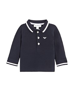 Armani Junior - Boy's Long Sleeve Polo Shirt - Baby