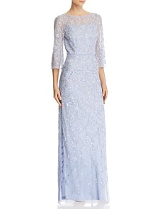 Aidan Mattox - Embellished Boatneck Gown