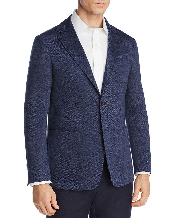 Canali - Chevron Stretch-Jersey Regular Fit Soft Jacket
