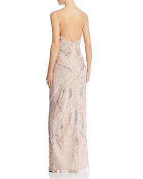 Aidan Mattox Deco Beaded Gown 100 Exclusive