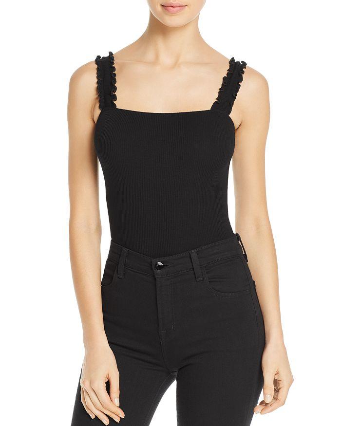 AQUA - Ruffle-Strap Bodysuit - 100% Exclusive