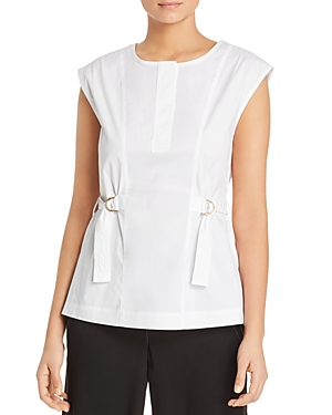 Donna Karan New York Cap-Sleeve Belted Top