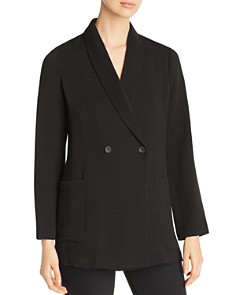 Eileen Fisher - Textured Double-Breasted Blazer