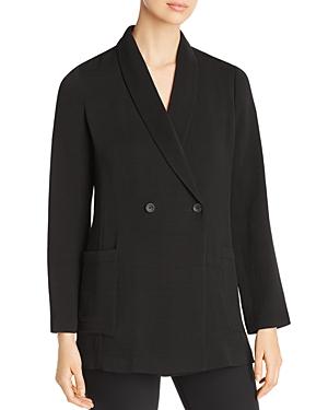 Eileen Fisher Textured Double-Breasted Blazer