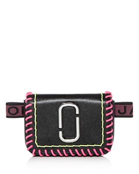 MARC JACOBS - Hip Shot Whipstitch Leather Convertible Belt Bag