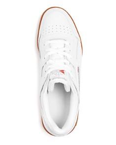 Reebok - Men's Workout Plus Leather Low-Top Sneakers