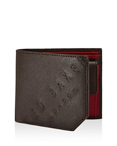 Ted Baker - Wuncoin Embossed Leather Bifold Wallet with Coin Pocket