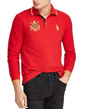 Polo Ralph Lauren - Long-Sleeve Mesh Custom Slim Fit Polo Shirt ... 8a164807ca65