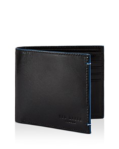 Ted Baker - Cechic Contrast-Stitch Leather Bifold Wallet