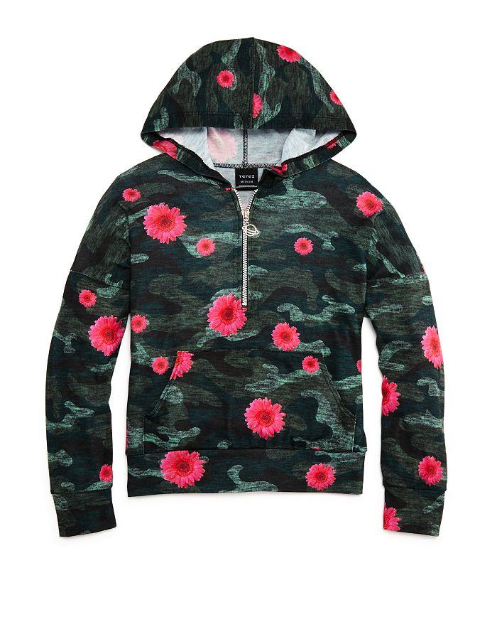 Terez - Girls' Camouflage & Floral Hooded Sweatshirt - Big Kid