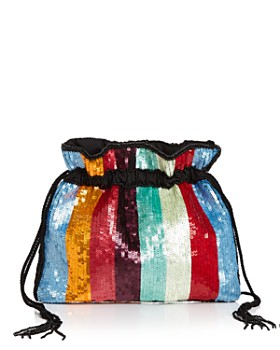 From St Xavier - Medium Kingston Drawstring Beaded Clutch