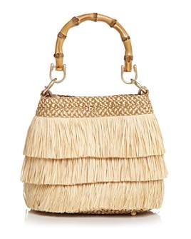 Eric Javits - Medium Lil Mombo Straw Fringe Handbag