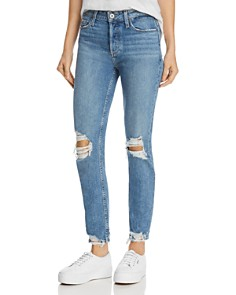 PAIGE - Vintage Hoxton Ankle Peg Jeans in Novi Destructed