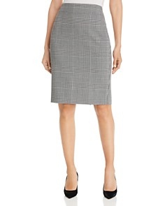 T Tahari - Glen Plaid Pencil Skirt