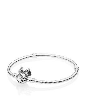 Pandora - Sterling Silver & Cubic Zirconia Disney Shimmering Minnie Portrait Bracelet