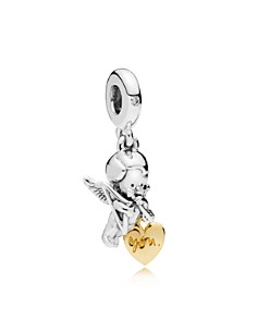 PANDORA - Sterling Silver & Cubic Zirconia Cupid & You Charm