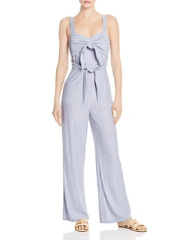 03a4c0d88d12 Sage the Label - Wild One Striped Tie-Detail Jumpsuit ...