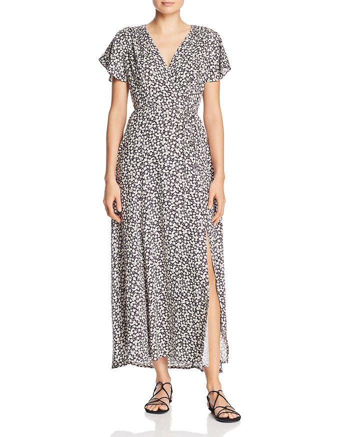 eeef47da8d FRENCH CONNECTION - Aubi Micro-Leaf Print Maxi Dress
