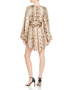 Ronny Kobo - Orzora Snakeskin-Print Dress