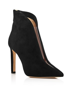 Jimmy Choo - Women's Bowie 100 Clear Cut-Out Booties
