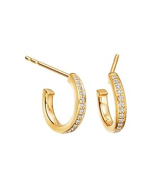 Astley Clarke Biography Infinity Hoop Earrings in 18K Gold-Plated Sterling Silver