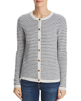 C by Bloomingdale's - Pointelle Striped Cashmere Cardigan - 100% Exclusive