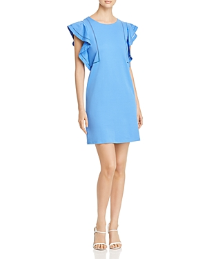Scotch & Soda Dresses RUFFLE-SLEEVE SHIFT DRESS