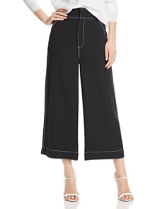 Joie - Cropped Wide-Leg Pants