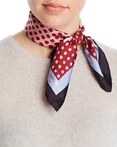 kate spade new york - Dotty Silk Scarf