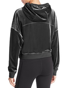 Alo Yoga - Velour Cropped Hooded Sweatshirt