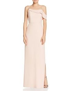 Laundry by Shelli Segal - Asymmetric Crepe Gown