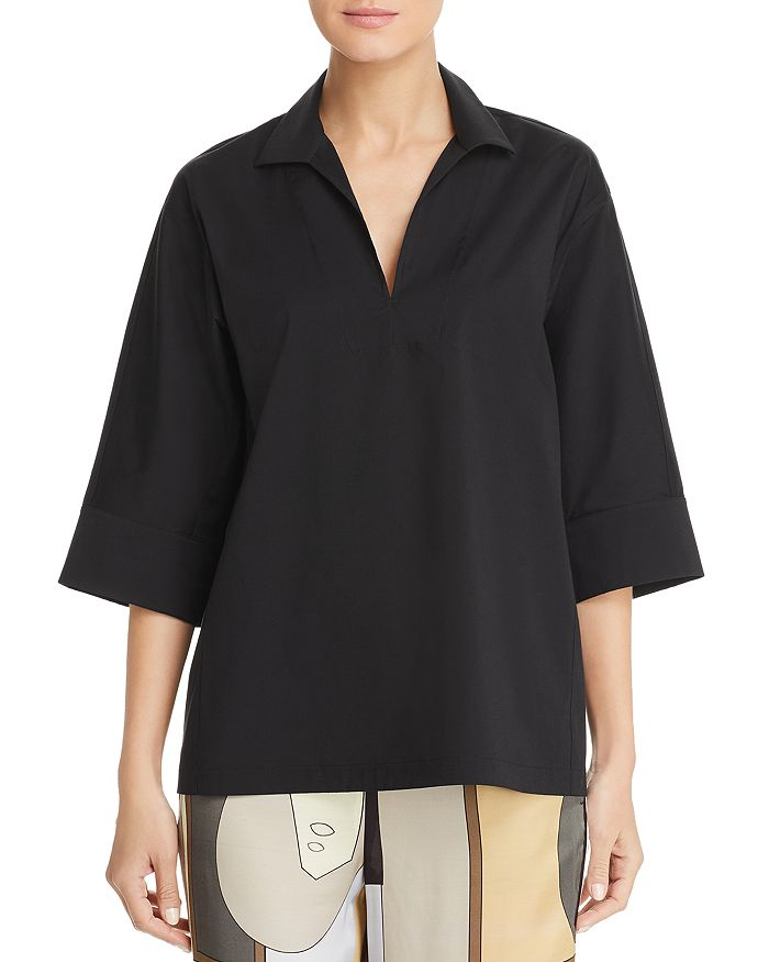 Lafayette 148 New York - Nicole Split-Neck Top