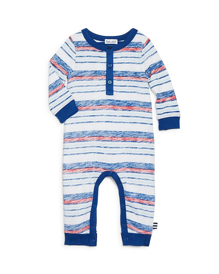 Splendid - Boys' Faded-Stripe Henley Coverall - Baby
